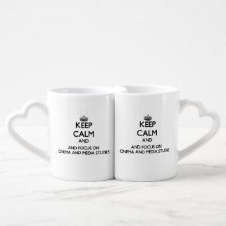 Keep calm and focus on Cinema And Media Studies Couples Mug