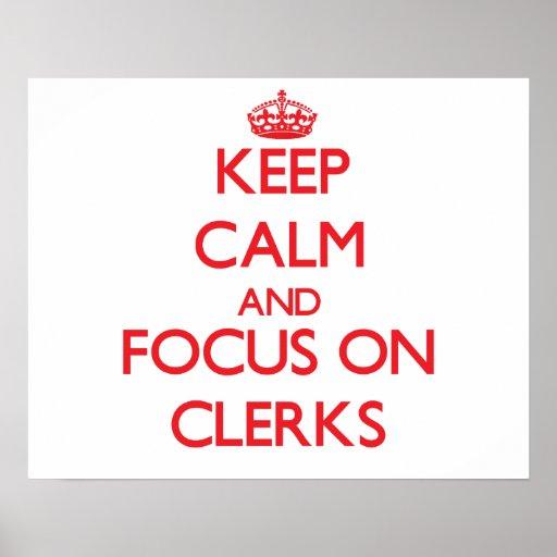 Keep Calm and focus on Clerks Print
