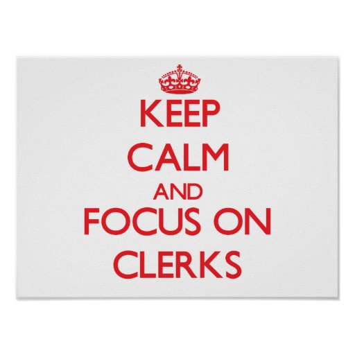 Keep Calm and focus on Clerks Poster