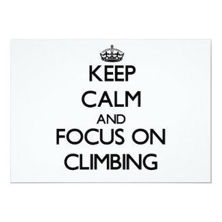 Keep Calm and focus on Climbing Card
