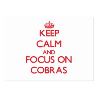 Keep Calm and focus on Cobras Pack Of Chubby Business Cards
