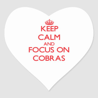 Keep Calm and focus on Cobras Stickers