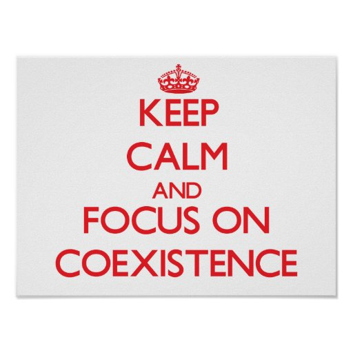 Keep Calm and focus on Coexistence Posters
