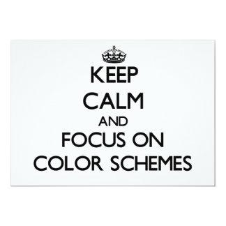 Keep Calm and focus on Color Schemes 13 Cm X 18 Cm Invitation Card