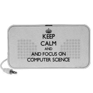 Keep calm and focus on Computer Science Notebook Speakers