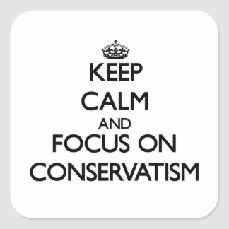 Keep Calm and focus on Conservatism Stickers