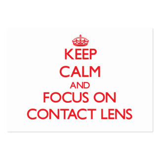 Keep Calm and focus on Contact Lens Business Cards