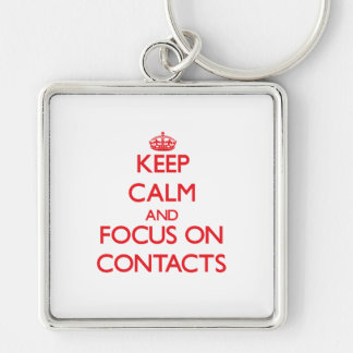 Keep Calm and focus on Contacts Keychain