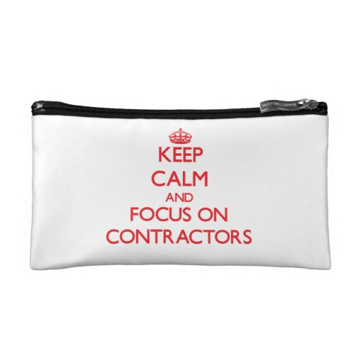 Keep Calm and focus on Contractors Makeup Bag
