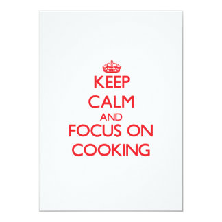 Keep Calm and focus on Cooking Invitation
