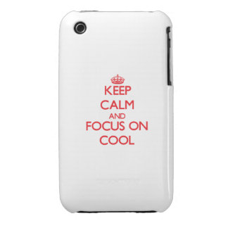 Keep Calm and focus on Cool iPhone 3 Case-Mate Case