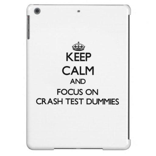 Keep Calm and focus on Crash Test Dummies iPad Air Covers