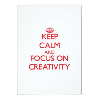 Keep Calm and focus on Creativity Announcement