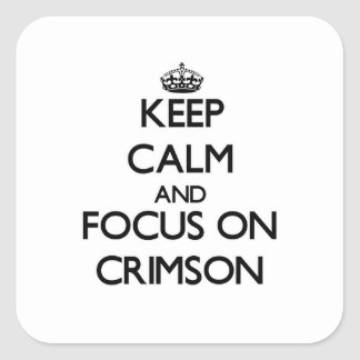 Keep Calm and focus on Crimson Sticker