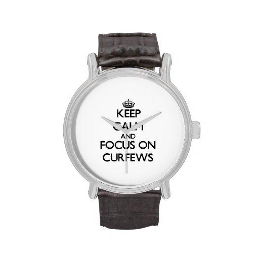 Keep Calm and focus on Curfews Wristwatch