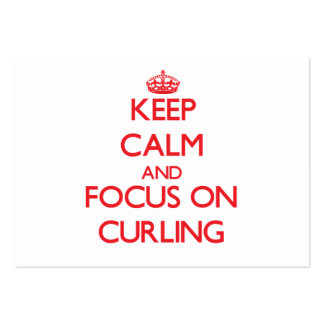Keep Calm and focus on Curling Business Card