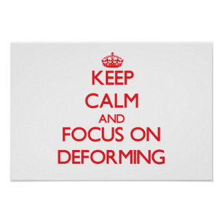 Keep Calm and focus on Deforming Posters