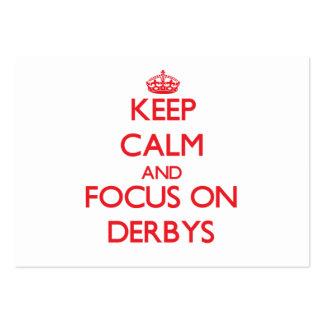 Keep Calm and focus on Derbys Business Card Templates