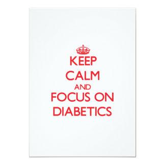 Keep Calm and focus on Diabetics Invitations