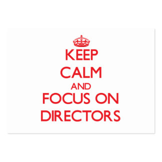 Keep Calm and focus on Directors Pack Of Chubby Business Cards