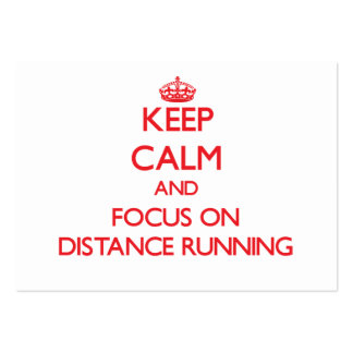 Keep Calm and focus on Distance Running Business Card Template