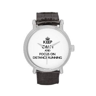 Keep Calm and focus on Distance Running Wrist Watch