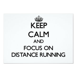 Keep Calm and focus on Distance Running Custom Invitations