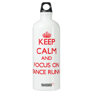 Keep Calm and focus on Distance Running SIGG Traveller 1.0L Water Bottle