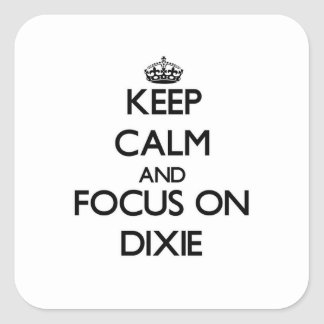 Keep Calm and focus on Dixie Square Sticker
