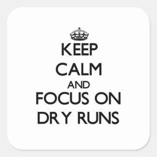 Keep Calm and focus on Dry Runs Sticker