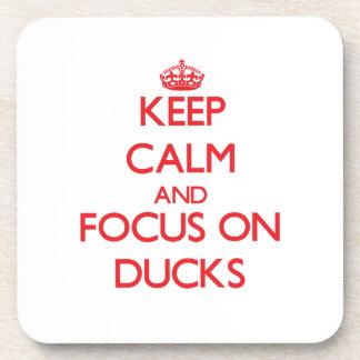 Keep Calm and focus on Ducks Beverage Coaster
