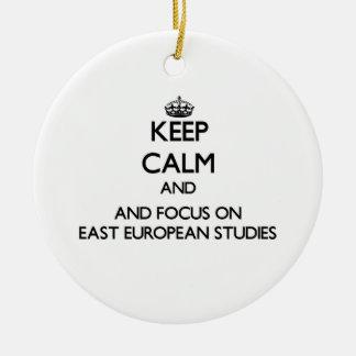 Keep calm and focus on East European Studies Christmas Ornament