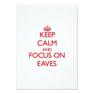 Keep Calm and focus on EAVES Custom Invites