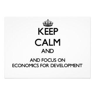 Keep calm and focus on Economics For Development Custom Invitations