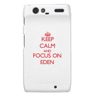 Keep Calm and focus on Eden Motorola Droid RAZR Case