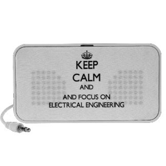 Keep calm and focus on Electrical Engineering Travelling Speaker