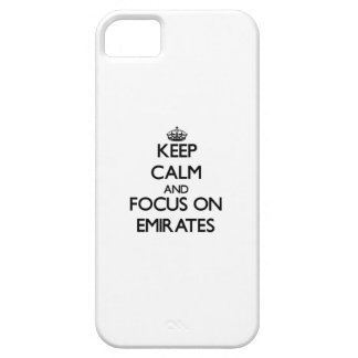 Keep Calm and focus on EMIRATES iPhone 5 Covers