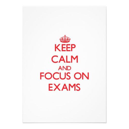 Keep Calm and focus on EXAMS Invitation