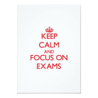 """Keep Calm and focus on EXAMS 5"""" X 7"""" Invitation Card"""