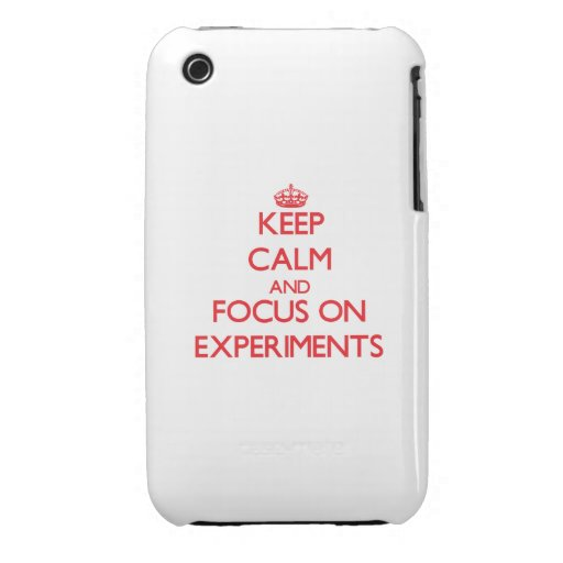 Keep Calm and focus on EXPERIMENTS iPhone 3 Cover
