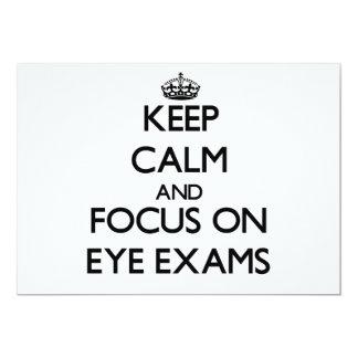 """Keep Calm and focus on EYE EXAMS 5"""" X 7"""" Invitation Card"""