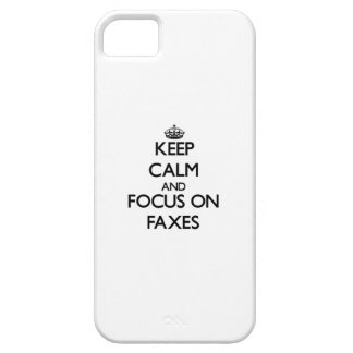 Keep Calm and focus on Faxes iPhone 5 Cover