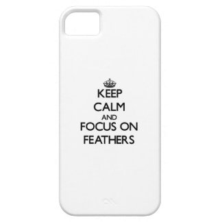 Keep Calm and focus on Feathers iPhone 5 Case