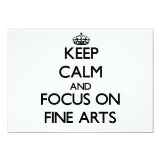 Keep Calm and focus on Fine Arts Card