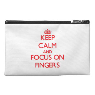 Keep Calm and focus on Fingers Travel Accessories Bags
