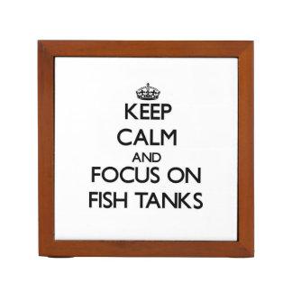 Keep Calm and focus on Fish Tanks Desk Organiser