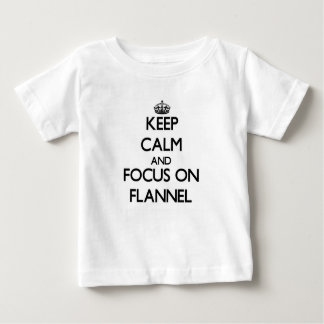 Keep Calm and focus on Flannel Tshirts