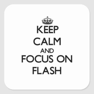 Keep Calm and focus on Flash Stickers