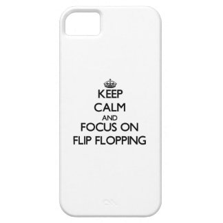 Keep Calm and focus on Flip Flopping Case For iPhone 5/5S