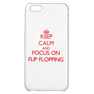 Keep Calm and focus on Flip Flopping Cover For iPhone 5C